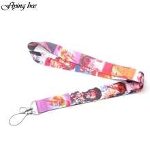 Flyingbee David Bowie Keychain Cartoon Lanyard Badge ID Lanyards/ Mobile Phone Rope/ Key Neck Straps Accessories X0078