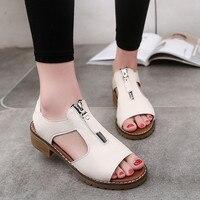 Ulrica New High Quality Women Summer Sport Casual Sandals Shoes Ladies Platform Zipper Sandals Wedges Shoes