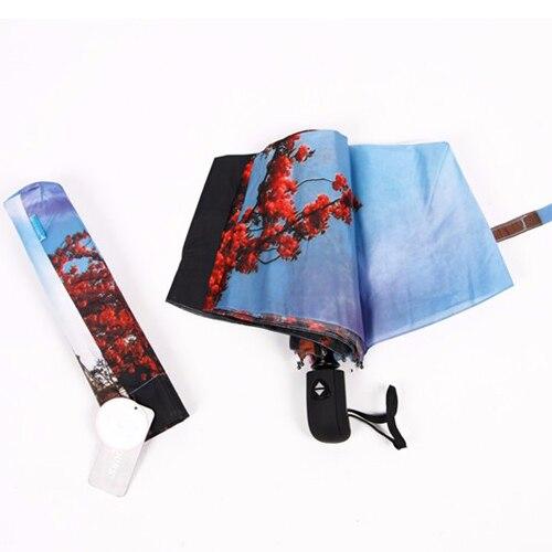 Panda Face Oil Painting Custom Unique Durable Custom Foldable Umbrella