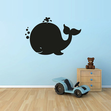 Cute Whale Wall Sticker Vinyl Art Design Backboard Decal For Home Kids Bedroom Decoration Y-703