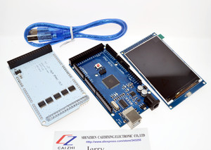 """Image 2 - 3.2"""" TFT LCD Touch + TFT 3.2 inch Shield + Mega 2560 R3 with usb cable for Arduino kit"""