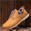 2016 новинка зима согреться мужской обуви свободного покроя добавить шерсть обувь человек кожаный британских полуботинки