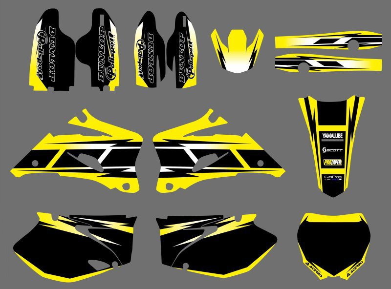 TEAM GRAPHICS BACKGROUNDS DECALS STICKERS Kits for Yamaha YZ250F YZ450F 2006 2007 2008 2009 YZ 250F