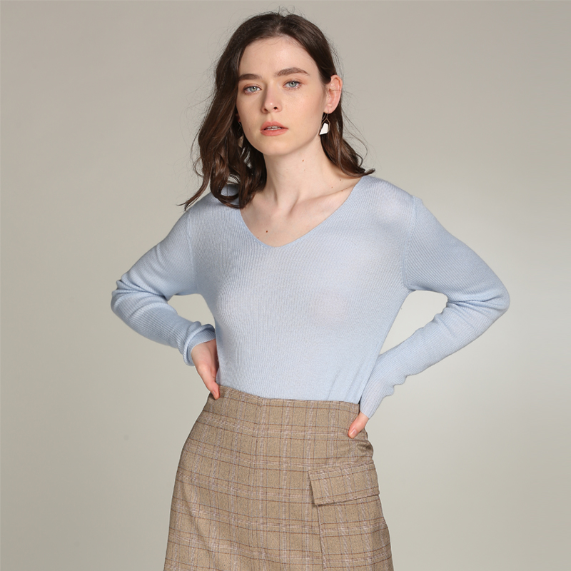 Free Shipping Kashana Spring Sweaters Womens 100% Pure Cashmere Sweaters Women V-neck Long Sleeve Pullovers Basic Soft Sweater women s sweater pullover 100% genuine goat cashmere women sweaters and pullovers knit round neck long sleeves thick sweaters