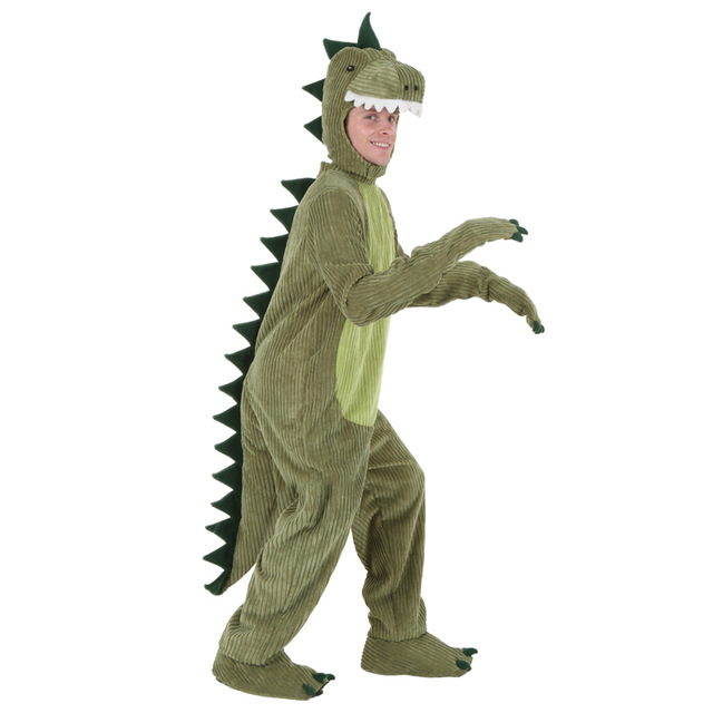Adult T rex Jumpsuit Dinosaur Costume Cosplay Halloween jumpsuit Costumes Funny Animal Fancy Dress
