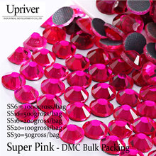 Aliexpress.com   Buy Upriver Wholesale Large Pack Bulk Packing Glass Wholesale  Size SS6 SS10 SS16 SS20 SS30 Super Pink Hotfix Rhinestones from Reliable ... d2aaab0f4663