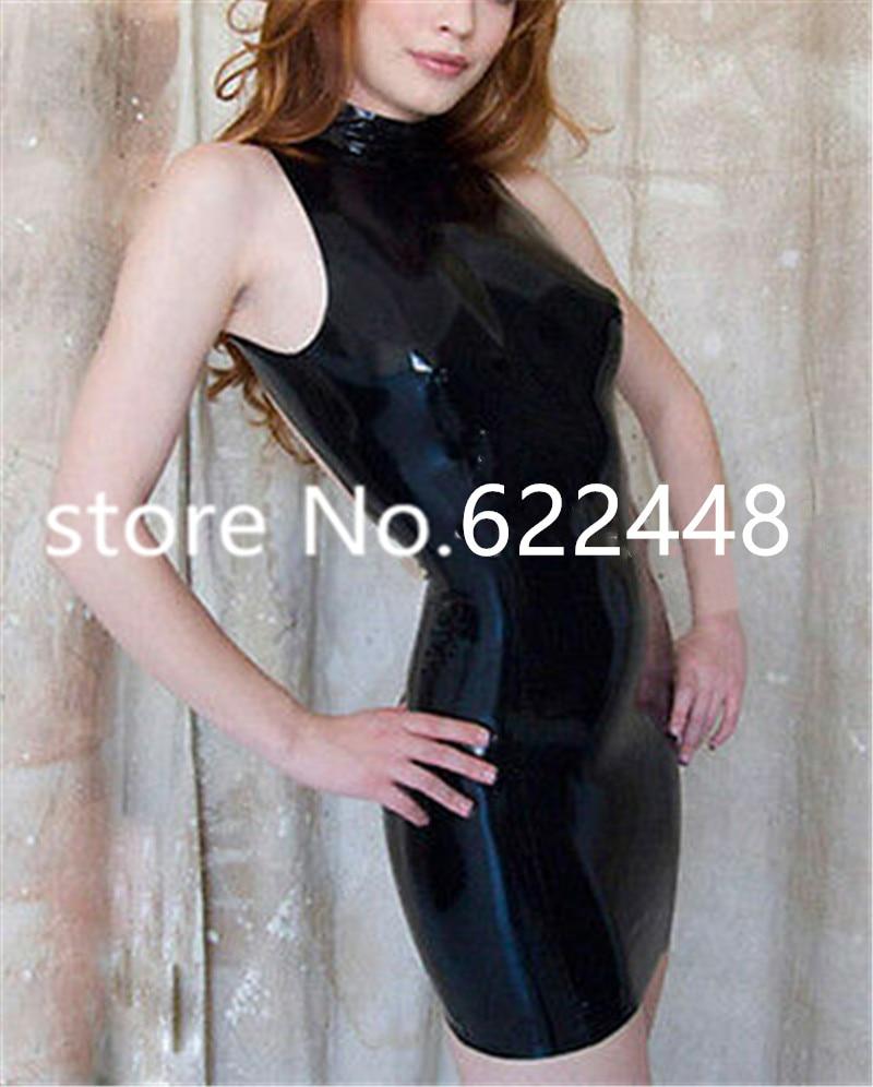 Сексуальные женские резиновые уникальные вечерние платья без рукавов, женские платья, Клубная одежда, экзотические платья на молнии сзади