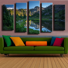 5PCS Table Mountain wall painting for home decor oil painting wall art print canvas No Framed wall picture