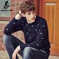 Pioneer camp espesar ropa de los hombres suéter suéter suéter de los hombres de la marca de otoño invierno de la manera elástico masculinos suéteres para los hombres 611205