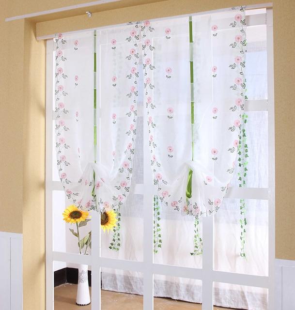 Curtains Ideas curtains for kitchen door window : 2016 tab top Sheer kitchen door window daisy roman curtain ...