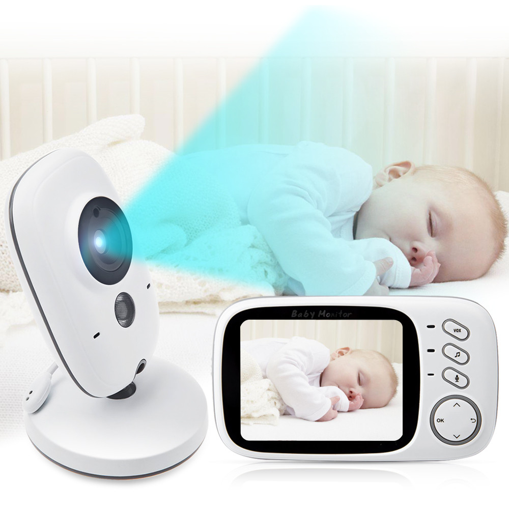 3 2 inch lcd wireless video baby camera monitor night vision nanny security camera temperature. Black Bedroom Furniture Sets. Home Design Ideas
