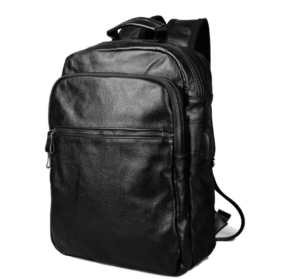 New Travel Genuine Leather Male Backpacks Fashion Large Capacity Outdoor Shoulder Bag Casual Waterproof College Schoolbag C207