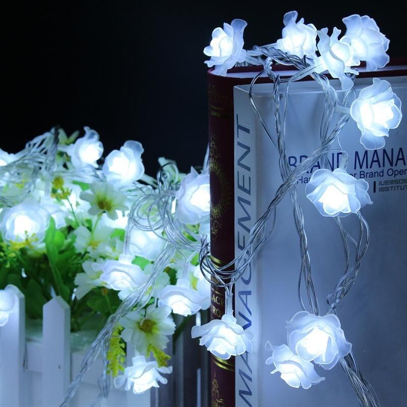 28LED Christmas Light Indoor 5M Fashion Holiday Lighting Rose Flower Led String Lights Party Christmas Decoration