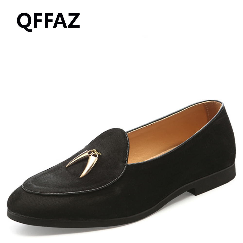QFFAZ Brand New Fashion Soft PU Leather Breathable Men's Flats Shoes Slip-on Mocassins Men Loafers Black Big Size 38-48 top brand high quality genuine leather casual men shoes cow suede comfortable loafers soft breathable shoes men flats warm
