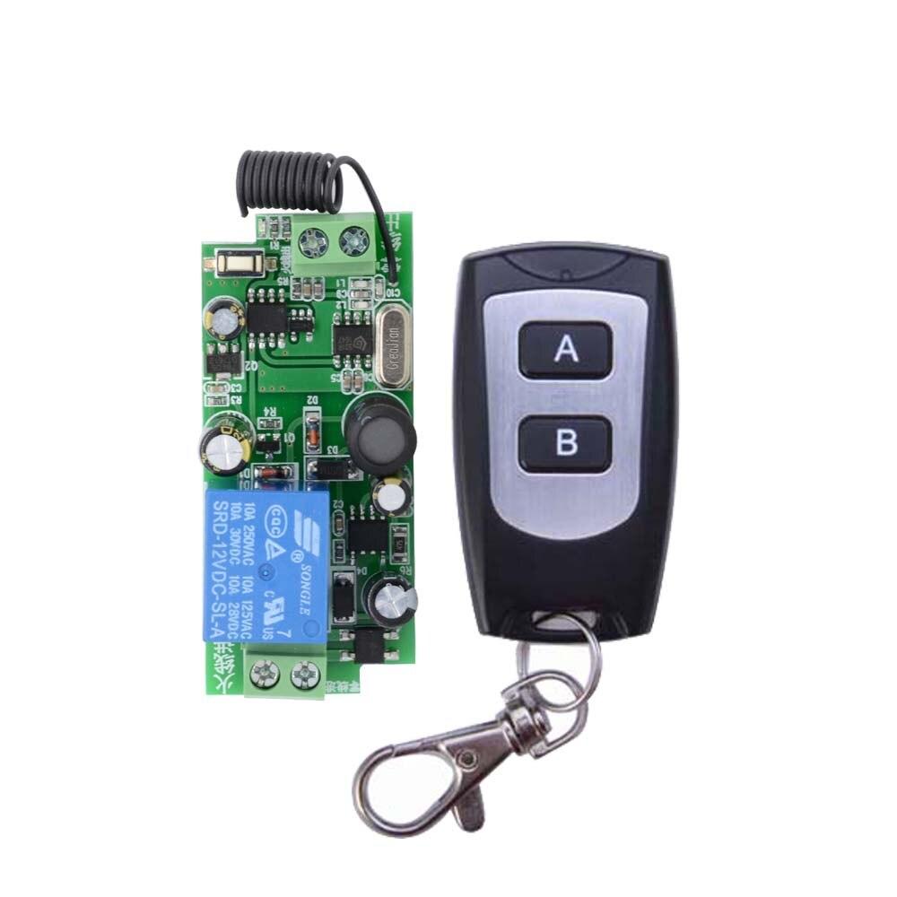 AC110V 220V 250V 1CH 10A RF Wireless Remote Switch Wireless Light Switch Wireless Remote Control Smart home dc24v remote control switch system1receiver