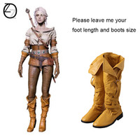 The Witcher 3 Wild Hunt Cirilla Cosplay Boots Adult Women Cosplay Costume Accessories Props Halloween Carnival Shoes