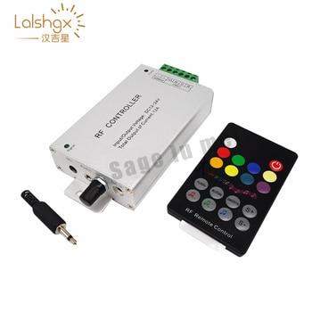 цена на DC12-24V 18 Keys Audio input Wireless RF Remote Controller,LED Music Sound Control RGB led Controller Dimmer RGB LED Tapes light