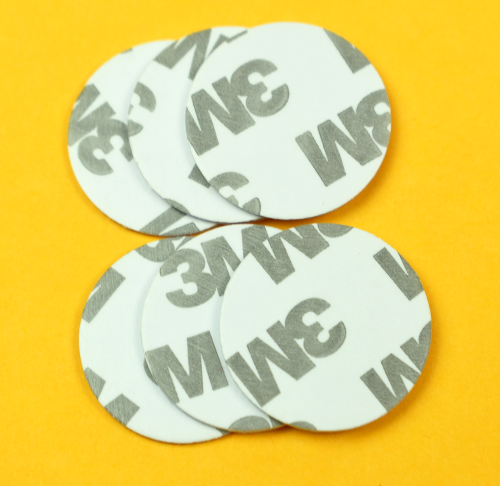 1000pcs/lot 125KHZ TK4100 EM4100 RFID Coin ID Card With 3M Adhensive Sticker Read Only Diameter 25mm for Access Control