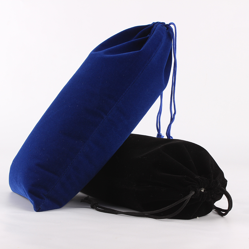 50pcs/Lot 15*30cm Customized Logo Printed Velvet Drawstring Pouch Packing Bags