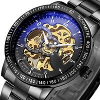 Top Luxury Brand Mechanical Watch Men S Automatic Self Wind Wristwatch Stainless Steel Skeleton Fashion