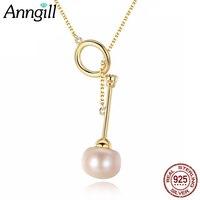 Neue Stil Persönlichkeit 925 Sterling Silber Perle Halskette Für Damen Corrente Dourada Schmuck Zubehör Valentinstag Geschenk