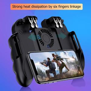 Image 1 - H9 Mobile Phone Gamepad for Pubg Joystick Hand Grip Free Fire Button for Pubg Controller L1R1 Trigger for Pubg Game Accessories