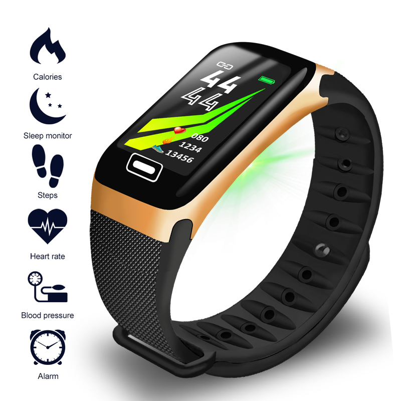LIGE New Sports Smart Bracelet  Fitness Wristband IP67 Waterproof Bluetooth Connection Calorie Consumption Display Watches