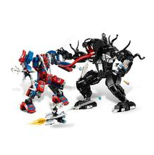 цена Bela 11188 Spider Man Spider Mech Vs. Venom Building Blocks Toys Bricks Gift Compatible With Sermoido Super Hero 76115 онлайн в 2017 году