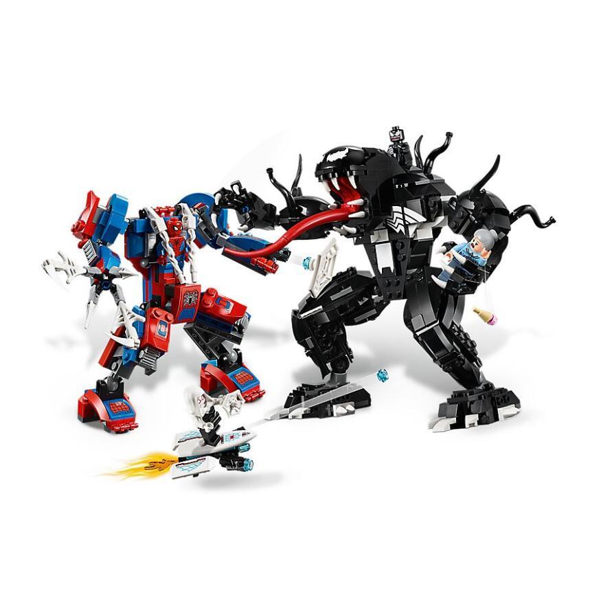 Bela 11188 Spider Man Spider Mech Vs. venin blocs de construction jouets briques cadeau Compatible avec Legoings Super Hero 76115