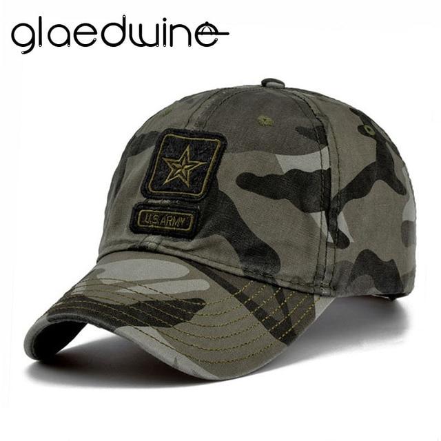 Glaedwine US Army Cap Camo Berretto da baseball da Uomo Camouflage Cappelli  di Baseball di Snapback b72bbebca0ee