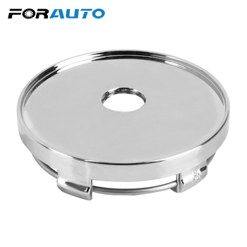 FORAUTO ABS Chrome 60mm Car Wheel Cover Auto Hubcaps Cover Dust Cover Wheel Center Cap Silver No Logo image