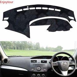 Фланелевая приборная панель Dashmat покрывает Dash коврик в машину пользовательские аксессуары для Mazda 3 Mazda3 BL 2009 2010 2011 2012 2013 Rhd