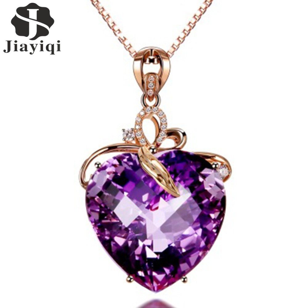 with necklaces heart short jewellery purple shop img allstile necklace
