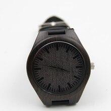 Nueva Llegada Relojes Hermosos Comercialización Caliente Para Hombre de Cuero de Moda De Bambú De Madera Relojes de Cuarzo Analógico Reloj de Pulsera de regalo de Navidad