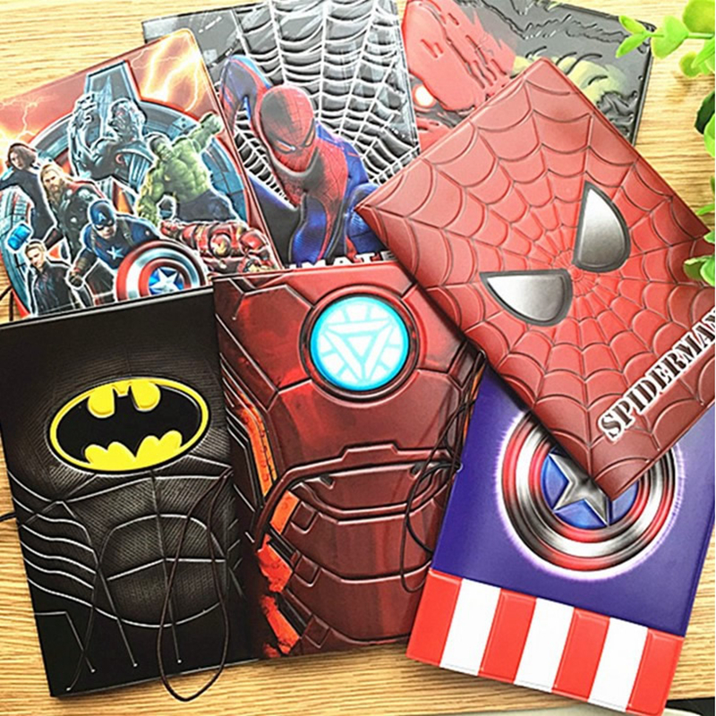 22 stilar Fashion Cool Cartoon 3D Pass Cover Män Kvinnor PU Läder Resor Passport Holder Case Card ID Holders 14 * 9.6cm