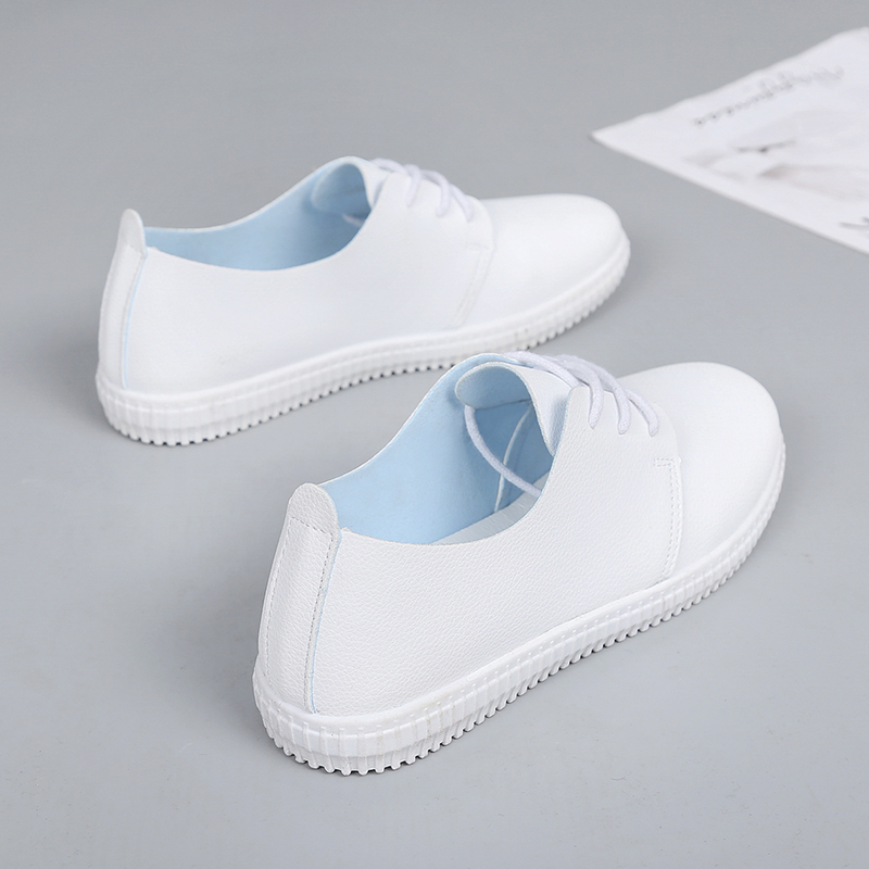 2018 Spring Summer New White Shoes Women Fashion Flat Leather Soft Shoes Female White Board Shoes Casual Shoes2018 Spring Summer New White Shoes Women Fashion Flat Leather Soft Shoes Female White Board Shoes Casual Shoes