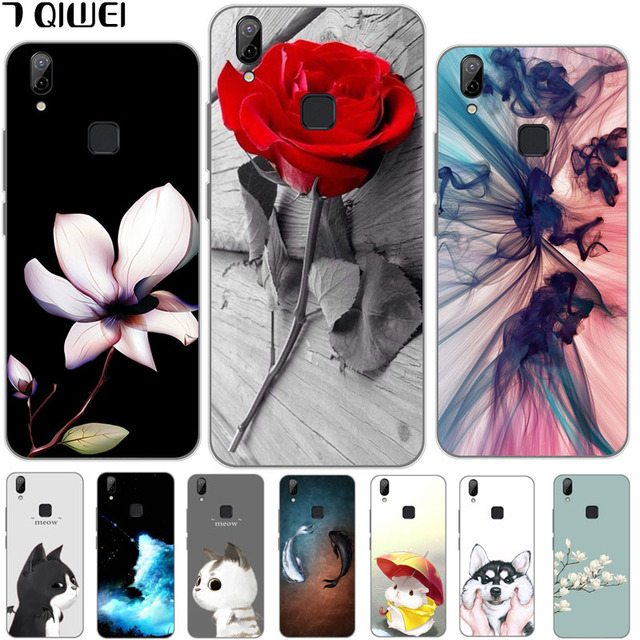 best sneakers 6372f 67bf4 US $1.49 39% OFF|For Vivo V9 Case Cute Cat Cartoon Back Silicone Case For  Vivo V9 Youth Cover Soft TPU Full Protection Animal Cases For Vivo Y85-in  ...