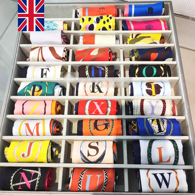 YILIAN Brand 26 Letters Scarf New Design Print Women Silk Scarf Fashion Headband Small Tie Bag Skinny Constellation Scarf SC197