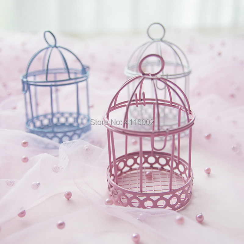 50pcs European Creative Iron Romantic Bird Cage Wedding Candy Box Wedding Favor and Gifts Party Decoration