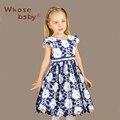 Vestidos de verão Para Meninas Vestido de Partido Dos Miúdos Trajes Para Meninas Flor Azul Princesa Vetement Vestidos Infantil Roupa Das Crianças