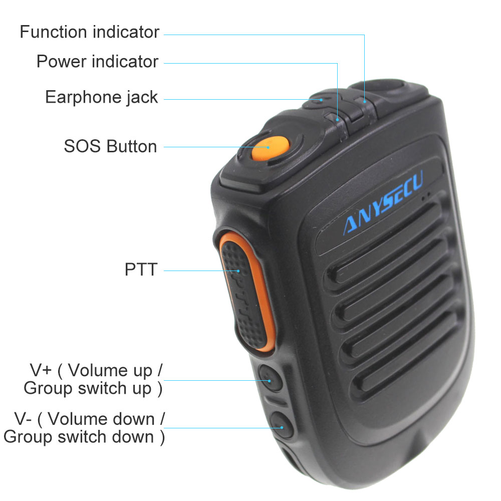 Беспроводной PTT Bluetooth громкая связь динамик B01 микрофон для POC Android сети Радио Walkie Talkie телефон работает с Zello PTT