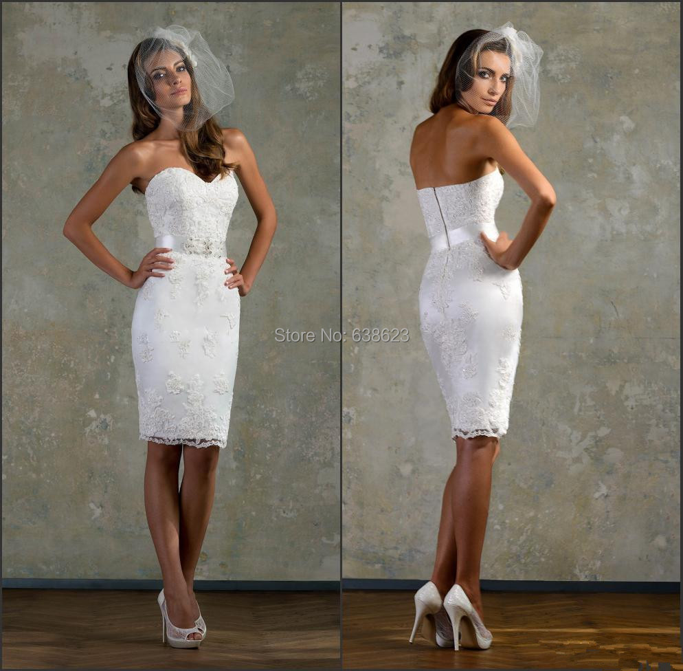 Fitted Short Wedding Dress