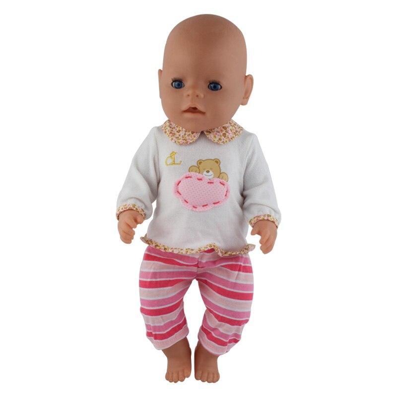 white Coat+Pink Pants Wear fit 43cm Baby Born zapf, Children best Birthday Gift