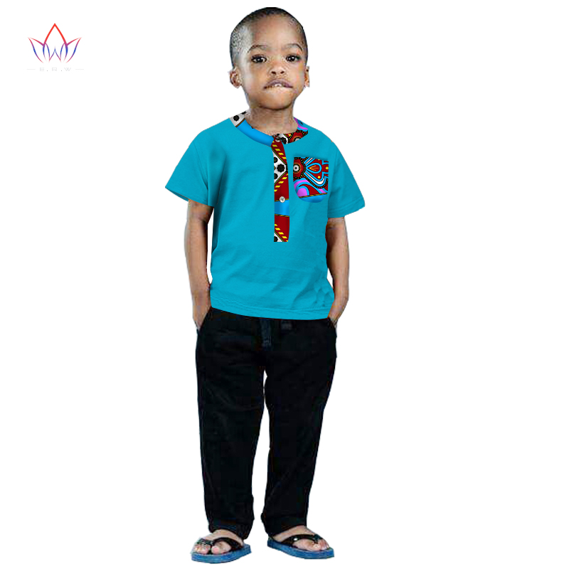 2017 African Clothing kids dashiki Traditional cotton shirt  Matching  Africa Print Children top baby clothes cotton BRW WY1202 benfica camisola 2020