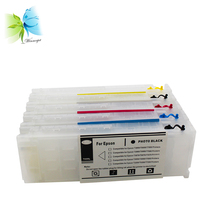 5 colors refill ink cartridge with chip + 2 sets stable one time use for Epson SureColor T3200 T5200 T7200