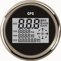 1pc Auto Tuning Gauges 85mm Digital GPS Speedometers GPS Odometers Motorcycle Tuning Meters 9 32v with Backlight and Antenna