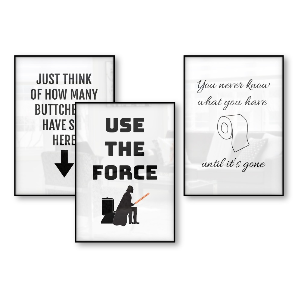 Funny Bathroom Poster Posters Prints Humor Art ...