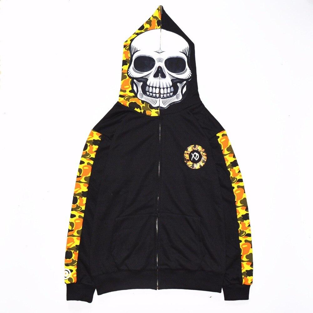 Japonais harajuku streetwear hip hop crâne Style hoodies hommes et femmes sweat planche à roulettes vetements vestes vêtements
