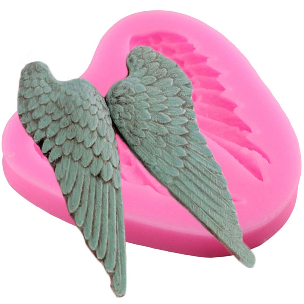 Pastry Tools 1PC <font><b>Silicone</b></font> <font><b>Mold</b></font> <font><b>Angels</b></font> <font><b>Wings</b></font> Shape Fondant Chocolate Soap <font><b>Mold</b></font> Cake Stencils Bread Moulds Kitchen Baking Pan image