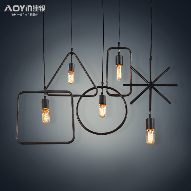 Australia Silver Small Pendant Loft American Retro Industrial Ceiling Lamp